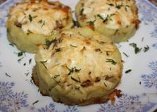 Гнезда из картофельного пюре с фаршем (пошаговый фото рецепт)