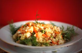 Овощи с рисом по-китайски (пошаговый фото рецепт)