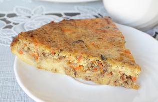 Заливной пирог с рыбной консервой (пошаговый фото рецепт)