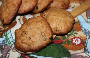 Печенье с пряностями и изюмом (пошаговый фото рецепт)
