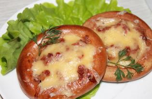 Бублики с сыром и фаршем в духовке (пошаговый фото рецепт)