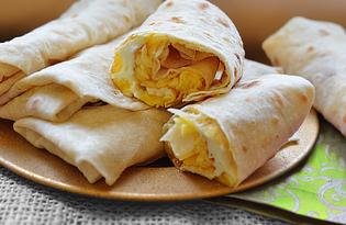 Домашний лаваш с яйцами (пошаговый фото рецепт)