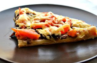 Пицца с говядиной и шампиньонами (пошаговый фото рецепт)