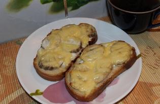 Сладкие бутерброды с бананом и сыром (пошаговый фото рецепт)