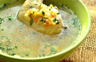 Куриный суп с булгуром (пошаговый фото рецепт)