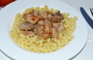 Макароны с жареной свининой (пошаговый фото рецепт)