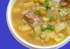 Суп с консервированной фасолью и горошком (пошаговый фото рецепт)