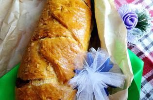 Пироги на пиве с яблочно-ореховой начинкой (пошаговый фото рецепт)