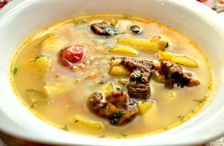 Рассольник с помидорами черри (пошаговый фото рецепт)