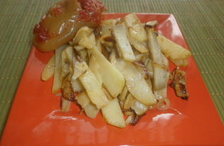 Картофель жареный с луком (пошаговый фото рецепт)