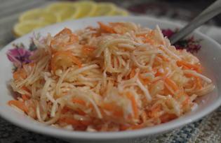 Салат из корня сельдерея с морковью (пошаговый фото рецепт)