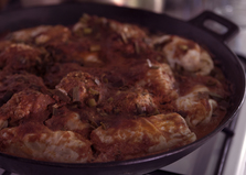 Голубцы с фаршированными кабачками (пошаговый фото рецепт)