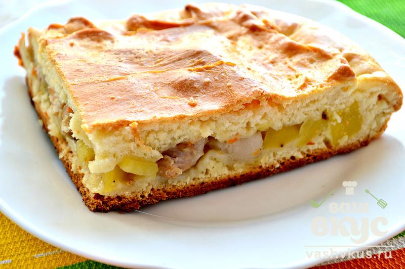 Пирог с картошкой и свининой рецепт