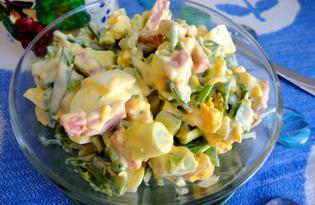 Салат «Весенний» с зеленым луком и яйцом (пошаговый фото рецепт)