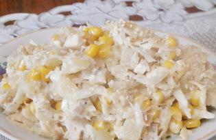 Салат из корня сельдерея, куриного филе и ананаса (пошаговый фото рецепт)