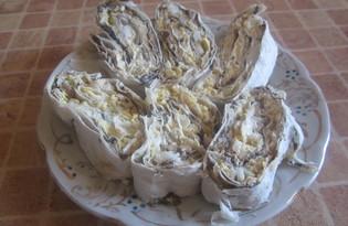 Закуска из лаваша с грибами (пошаговый фото рецепт)