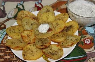 Запеченный картофель с пряным соусом (пошаговый фото рецепт)