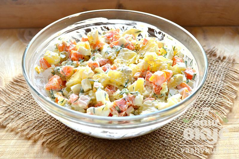 Крабовый салат званый ужин