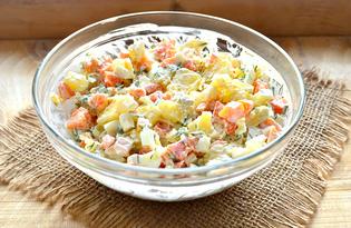 Простой салат из вареных овощей и яиц (пошаговый фото рецепт)