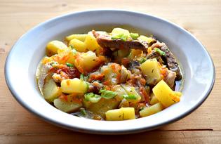 Свинина с картофелем и овощами (пошаговый фото рецепт)