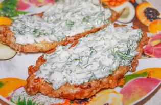 Отбивные с соусом из петрушки (пошаговый фото рецепт)