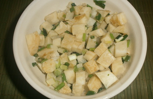 Салат с корнем сельдерея и зеленым луком (пошаговый фото рецепт)