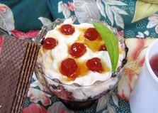 Творожный десерт с вафлями (пошаговый фото рецепт)