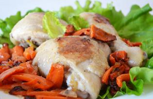 Курица жареная с морковью (пошаговый фото рецепт)