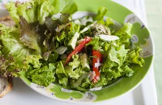 Летний салат с песто (пошаговый фото рецепт)