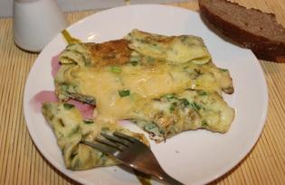 Омлет с сыром и зеленым луком (пошаговый фото рецепт)