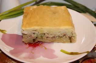 Картофельная запеканка с мясным фаршем и солеными огурцами (пошаговый фото рецепт)