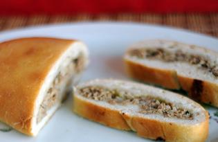 Пироги - расстегаи с тунцом (пошаговый фото рецепт)