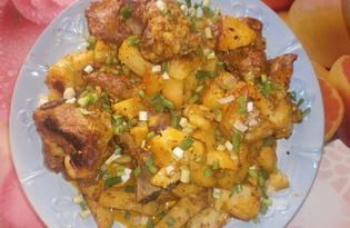 Свиные ребрышки с картофелем в рукаве (пошаговый фото рецепт)