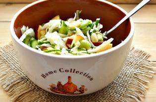 Салат с сельдереем, капустой и яблоком (пошаговый фото рецепт)