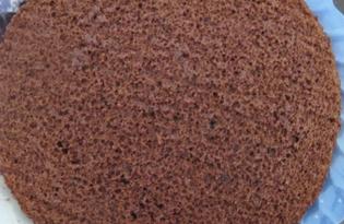 Шоколадный бисквит на кипятке (пошаговый фото рецепт)