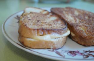 Гренки в кляре с сыром (пошаговый фото рецепт)