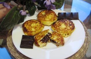 Сырники с шоколадом (пошаговый фото рецепт)