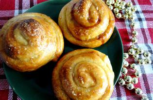 Слойки «Розочки» с медово - ореховой начинкой (пошаговый фото рецепт)