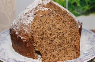Шарлотка с яблоками и грецкими орехами в хлебопечке (пошаговый фото рецепт)