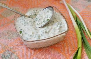 Соус сметанный с зеленью (пошаговый фото рецепт)