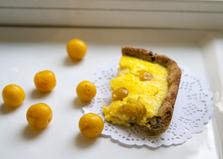 Чизкейк с жёлтой алычой (пошаговый фото рецепт)