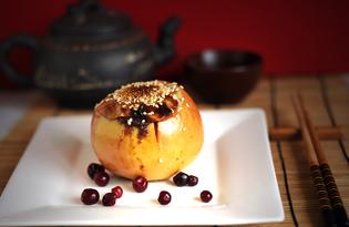 Запеченные яблоки с начинкой (пошаговый фото рецепт)