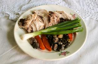 Куриные грудки на подушке из шампиньонов и овощей (пошаговый фото рецепт)