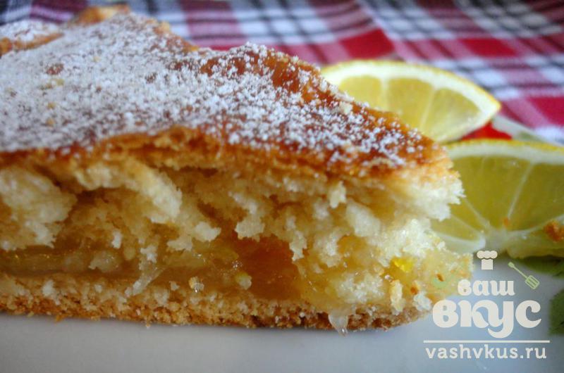 Вкусный пирог с лимонной начинкой
