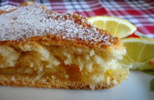 Сметанный пирог с лимонной начинкой (пошаговый фото рецепт)