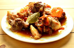 Свиная поджарка с овощами (пошаговый фото рецепт)