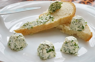 Масло с травами и чесноком (пошаговый фото рецепт)