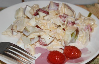 Фруктовый салат с сыром (пошаговый фото рецепт)