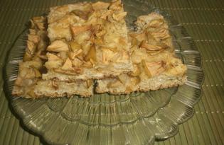 Пирог с яблоками и медом (пошаговый фото рецепт)