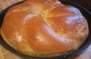 Дрожжевое кольцо с сыром (пошаговый фото рецепт)
